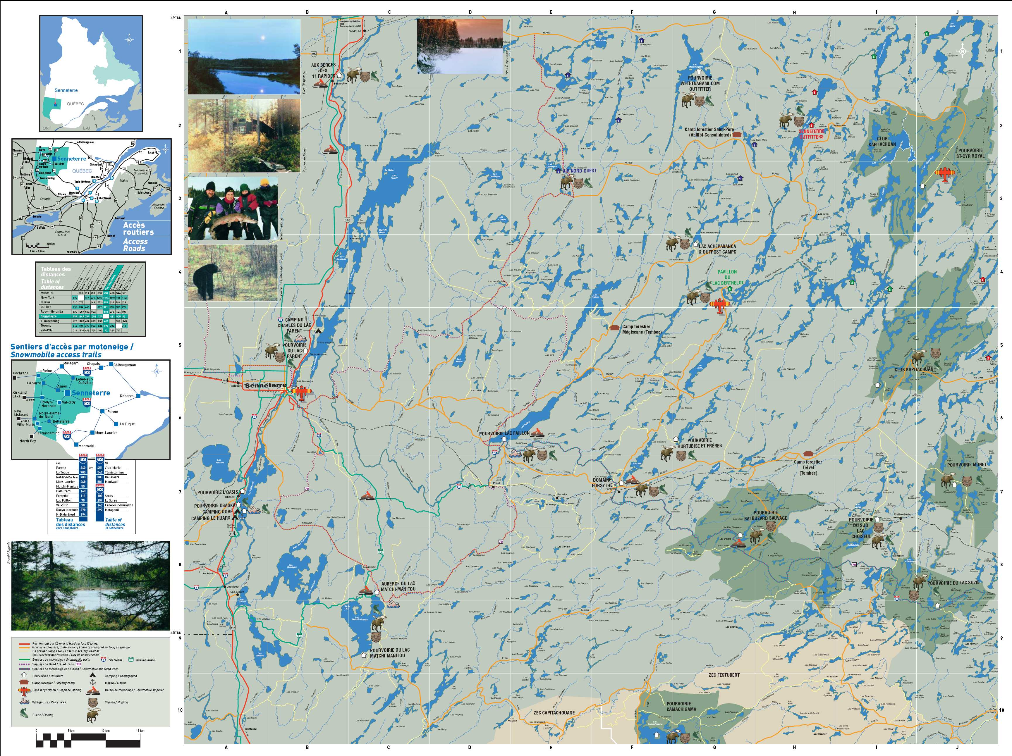 Senneterre Outfitters Map Bluewalleyes